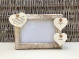 Shabby personalised Chic Photo Frame In Memory Of Dad ~ Father ~ Daddy Any Name - 253965289522